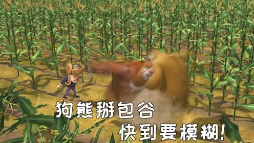 四川话熊出没光头强请狗熊来掰包谷,狗熊直接