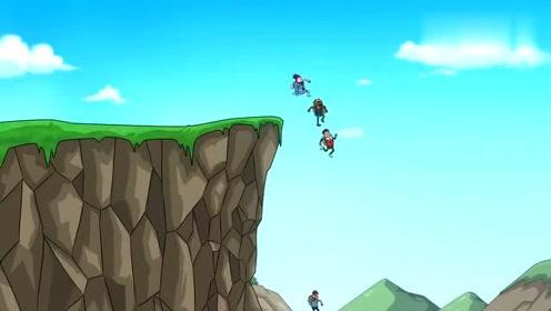 搞笑吃鸡动画:霸哥四人走水路,萌妹直说舒服