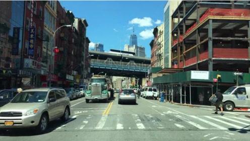纽约街道的汽车视角,感受美国街区风景,这地方值得一游吗?