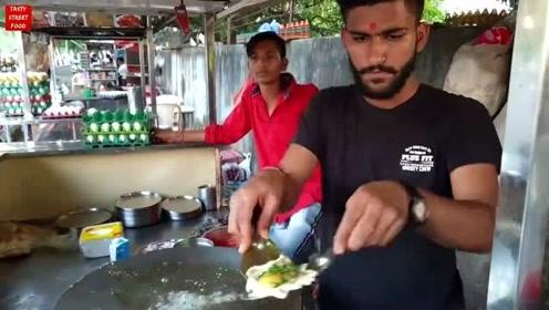 围观印度人的鸡蛋大菜,在画风简直是三哥专属,流程一道接一道