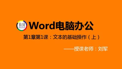 足不出户在家学最新word电脑办公基础知识视频教程:文本的基础操作