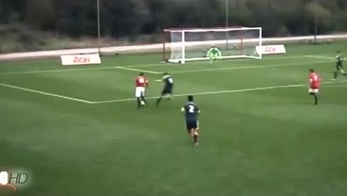 曼联前锋马库斯·拉什福德在曼联青年队效力时的集锦