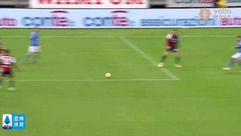 意甲联赛第十七轮比赛精彩回顾 卡利亞里1-4那不勒斯 混战中门前的若昂-佩德罗得球后抽射破门