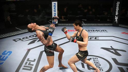 UFC电竞,非洲腿王来华挑战张伟丽,结果惨遭重拳KO