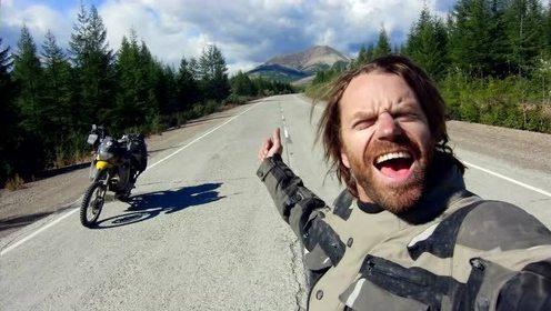 带着梦想骑着摩托 穿越骨之路