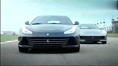 法拉利全新GTC4Lusso霸气宣传片,赛道狂飙,明星
