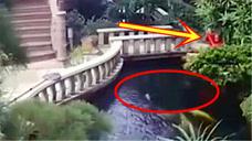 女子在河边涮拖把,门卫发现情况不对冲过去阻止,还能挽回吗