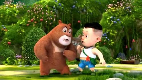 熊出没之熊熊乐园:吉吉不开心,熊大给他讲笑话,太逗了!