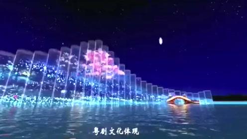 顺德顺峰山公园灯光夜景效果