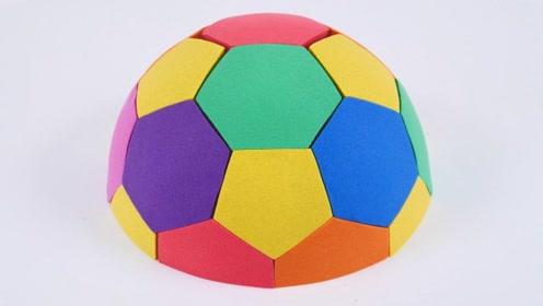 宝宝巴士魔力太空沙—七彩足球,DIY创意造型,