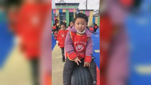 最有趣的小朋友蹦轮胎超可爱