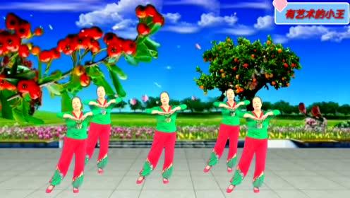 广场舞《桥边姑娘》当下广场最红舞曲,好听好看好学