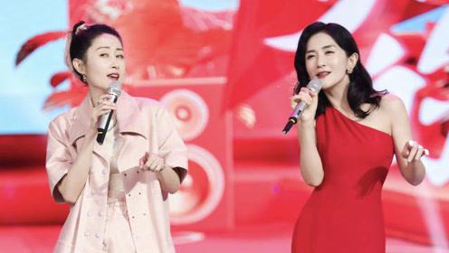 谢娜模仿刘敏涛,表情太到位了,网友:叫你模仿,没叫你超越!
