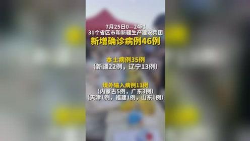 警惕!31省區市本土新增35例,其中新疆22例,遼寧13例。