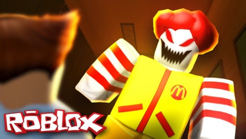 Roblox去吃麦当劳结果被小丑关在了快餐店里!咯