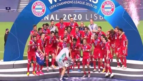 荣耀时刻!诺伊尔捧起大耳朵杯,拜仁队史第6次封王欧冠