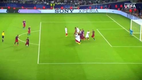 盘点梅西欧冠五大任意球,多贵的人墙都是摆设,最后一个堪称经典