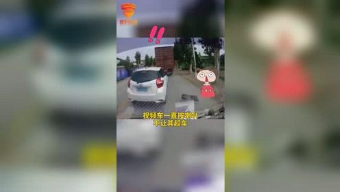 如果你是视频车,会让白车过吗?