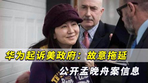 华为出手,起诉美政府16个部门,拘捕孟晚舟背后存在政治动机