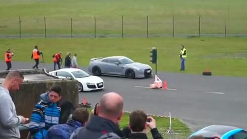 豪车对比测试R8不敌对手奥迪R8日产GTR比拼加速