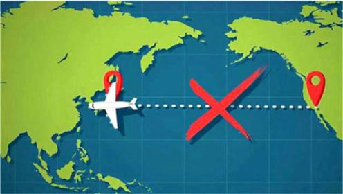 为何飞机不能横飞太平洋?一个动画解释答案,心中多年的困惑解开了