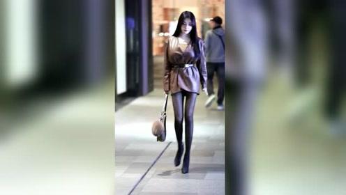 黑丝高跟大长腿,美女的身材简直绝了,名媛都