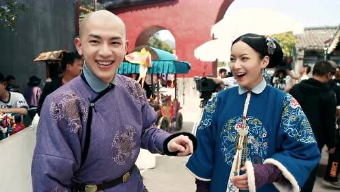 Behind the scenes: 14th thinks that Ming Hui is too fat for a piggy back ride | Dreaming Back to the Qing Dynasty