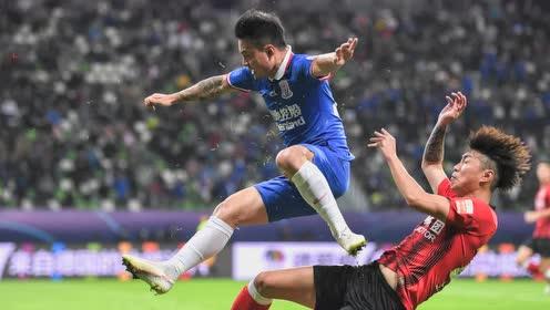 【战报】上海申花0-0上海上港  曾诚数次救险姆比亚防守闪耀
