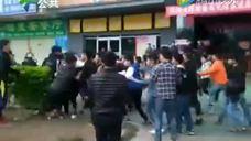 广东数十名大学生因买饭插队街头混战 当场头破