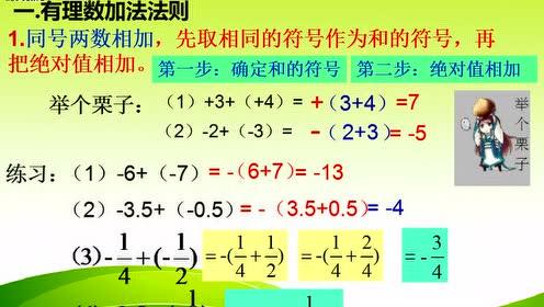 北师大版七年级数学上册第二章 有理数及其运算_有理数的加法flash课件