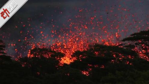 实拍印尼导致海啸的火山喷发 一声巨响后大量烟尘喷涌