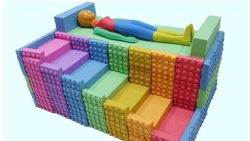 创意手工制作:做彩虹楼梯 彩虹小床