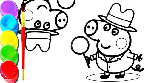 趣味简笔画:画小猪吃棒棒糖