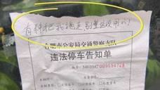 """违停罚单上写""""有种拖走"""",交警:依法拖走"""