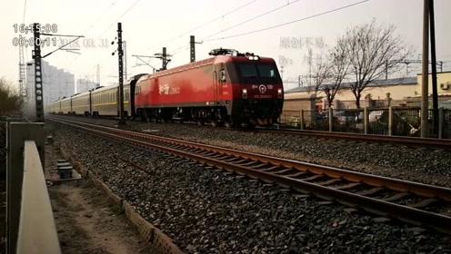 津山线k145公里,广州开往沈阳的Z11次火车,从天津站方向开来