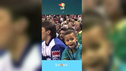 当年坐在观众席看父亲参加三分球大赛的小库里,如今三冠在手!
