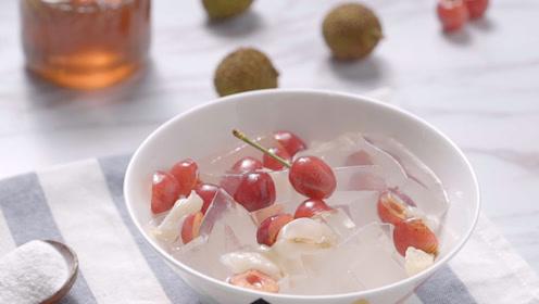 自制网红解暑甜品,健康美味的水果冰粉,吃一口立马降温5℃