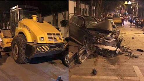 青海一压路机失控碾压15辆车,被压车主介绍死里逃生瞬间