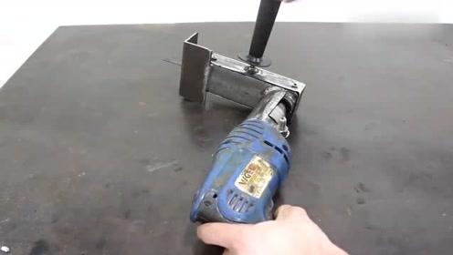 都说电钻是万能的,看完这个视频就知道了,又学到一招!