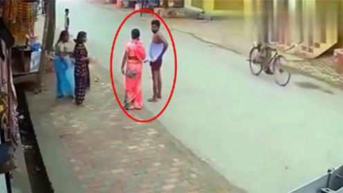印度到底有多乱?要不是监控拍下,不敢相信白天会发生这种事情