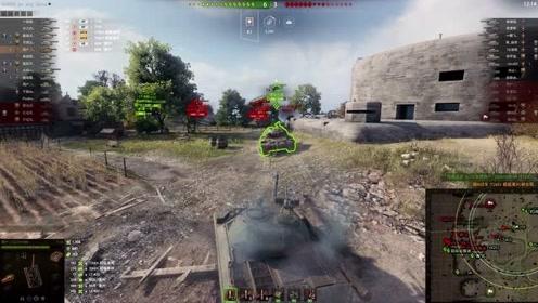 【坦克世界梦痕视频】国服T-10带节奏就是爽啊,3分钟结束战斗