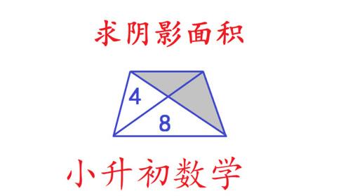 小升初数学,巧求面积,经典几何题