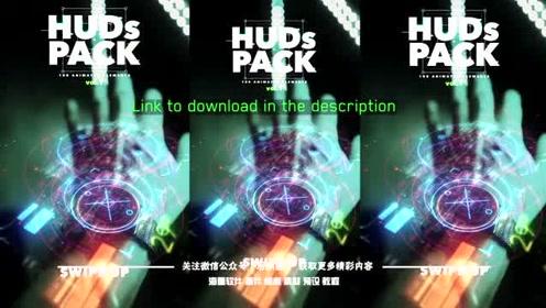 视频素材-100个未来科技感HUD图形元素动画包 Hud Elements Pack vol.1