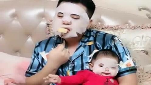 让爸爸带一天娃,回家后看到眼前一幕,妈妈表示想揍人了