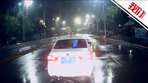 消防车救援途中多次鸣笛打双闪提醒 私家车拒不让行被罚