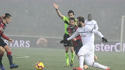 【战报】AC米兰0-0闷平博洛尼亚 巴卡约科染红下场