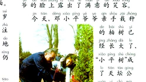 二年级语文下册4 邓小平爷爷植树