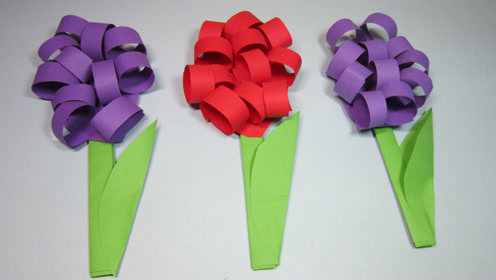 简单的手工折纸花朵,4分钟学会立体花朵的折法