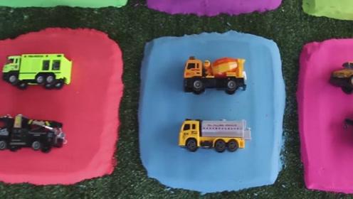 玩具视频:寻找正确的汽车形状,认识生活中的工具车