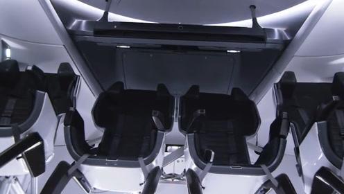 美国龙飞船结构遭曝光!新增载人功能,休息室堪称豪华级!